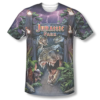 Jurassic Park Welcome To The Park Sublimation T-Shirt