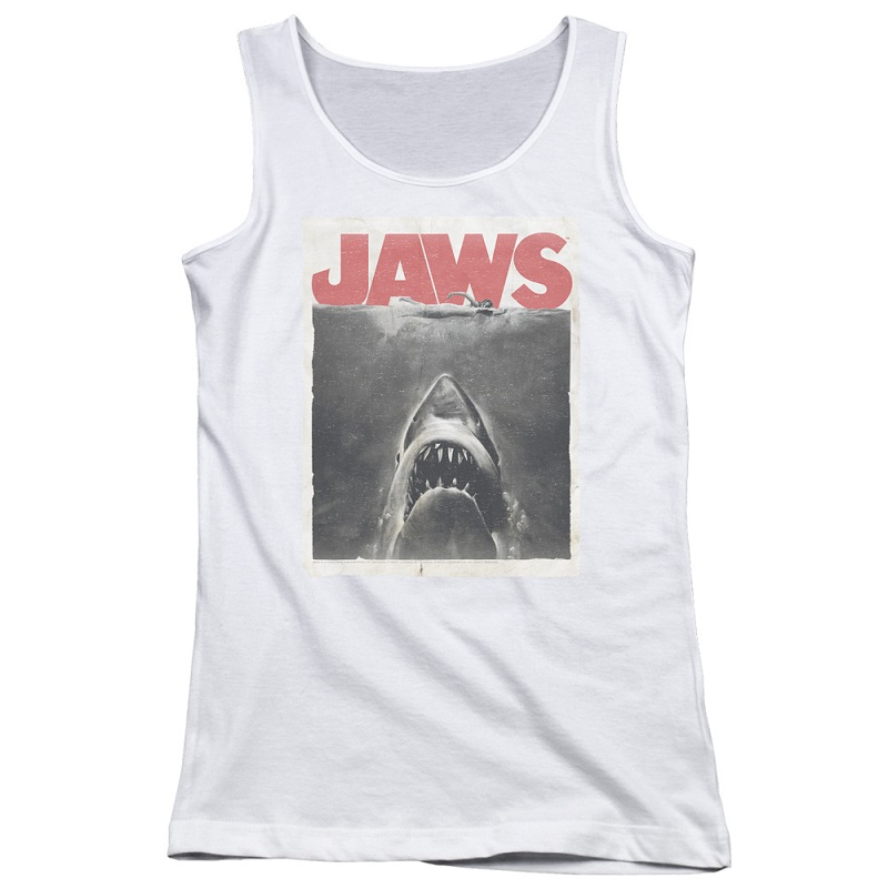 Jaws Movie Poster Women's White Tank Top