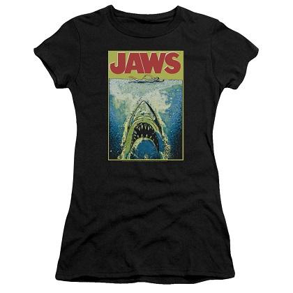 Jaws Neon Poster Women's Tshirt