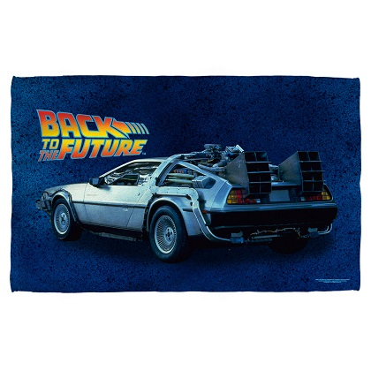 Back To The Future Delorean Beach Towel