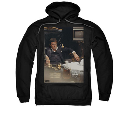 Scarface Sit Back Black Pullover Hoodie