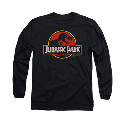 Jurassic Park Logo Black Long Sleeve T-Shirt