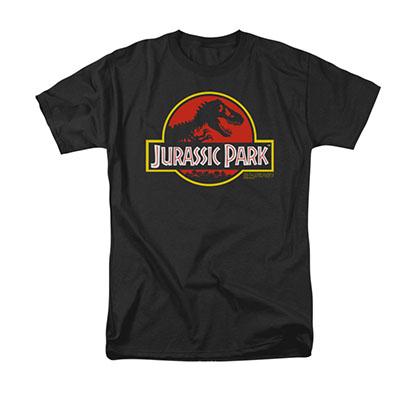 Jurassic Park Men's Black Classic Logo Tee Shirt