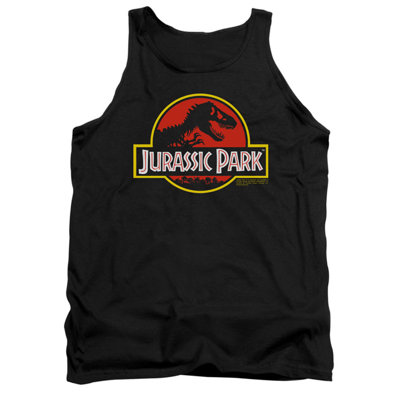 Jurassic Park Logo Black Tank Top