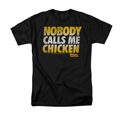 Back To The Future Men's Black Chicken Tee Shirt