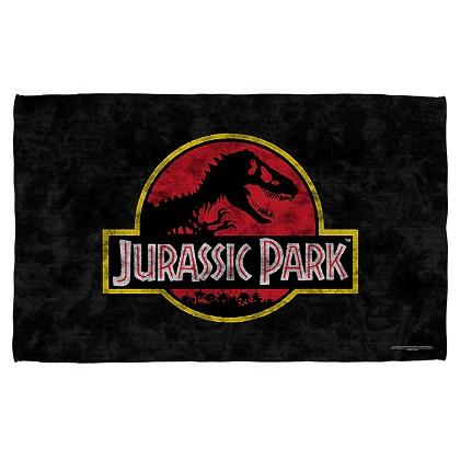 Jurassic Park Logo Beach Towel