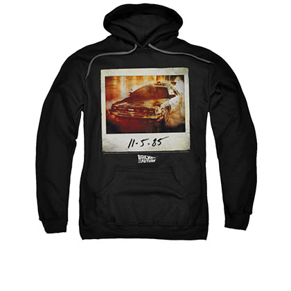 Back To The Future November 5th Men's Black Pullover Hoodie