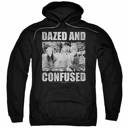 Dazed And Confused Rock On Black Pullover Hoodie