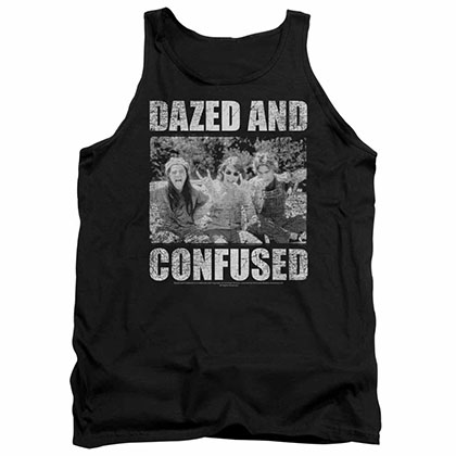 Dazed And Confused Rock On Black Tank Top