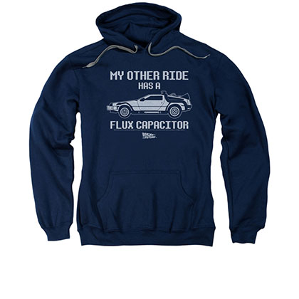 Back To The Future My Other Ride Men's Blue Pullover Hoodie