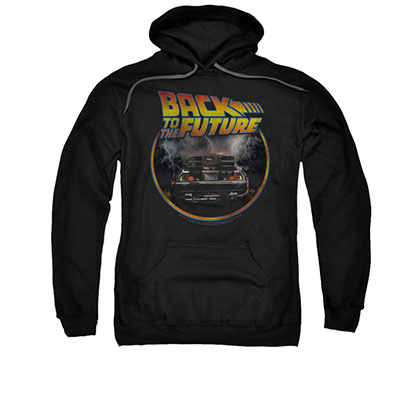 Back To The Future Men's Black Circle Logo Pullover Hoodie