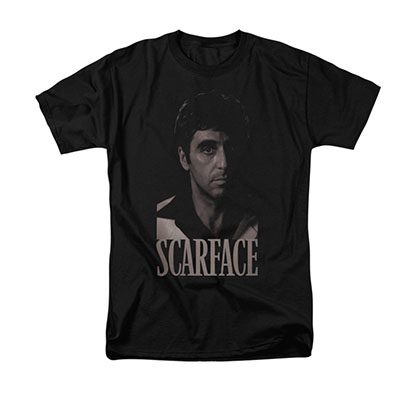 Scarface Black & White Tony Black T-Shirt