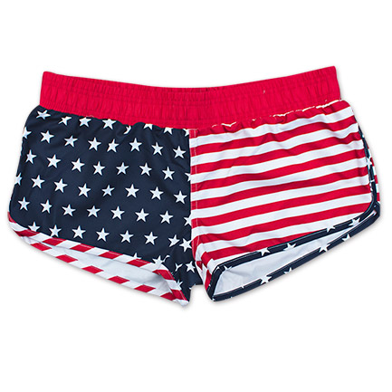 USA American Flag Junior Patriotic Booty Shorts