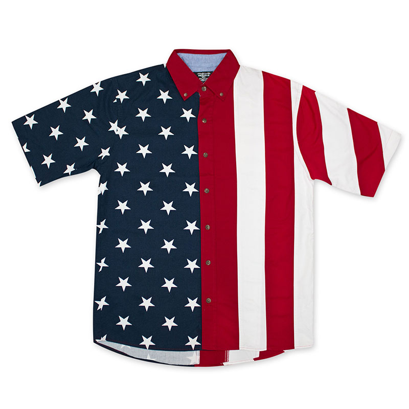 American Flag USA Button Up Shirt