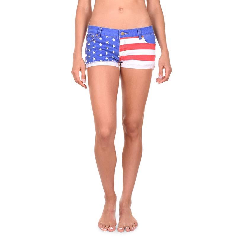 USA Patriotic Juniors Denim Shorts