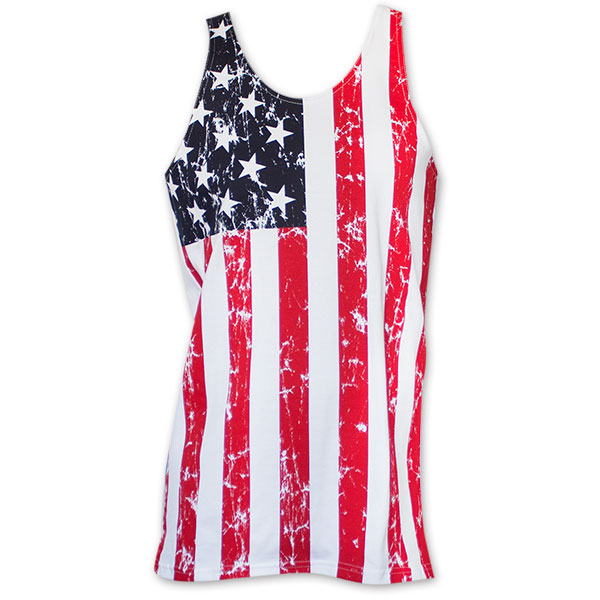 USA Men's Distressed Tank Top