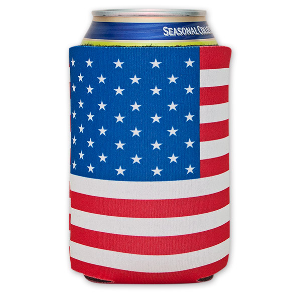 The American Flag Beer Can Cooler