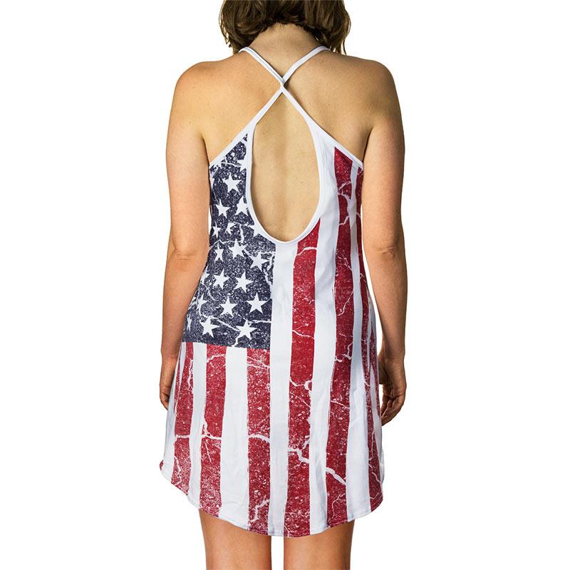 Patriotic American Flag Women's Tank Top Dress