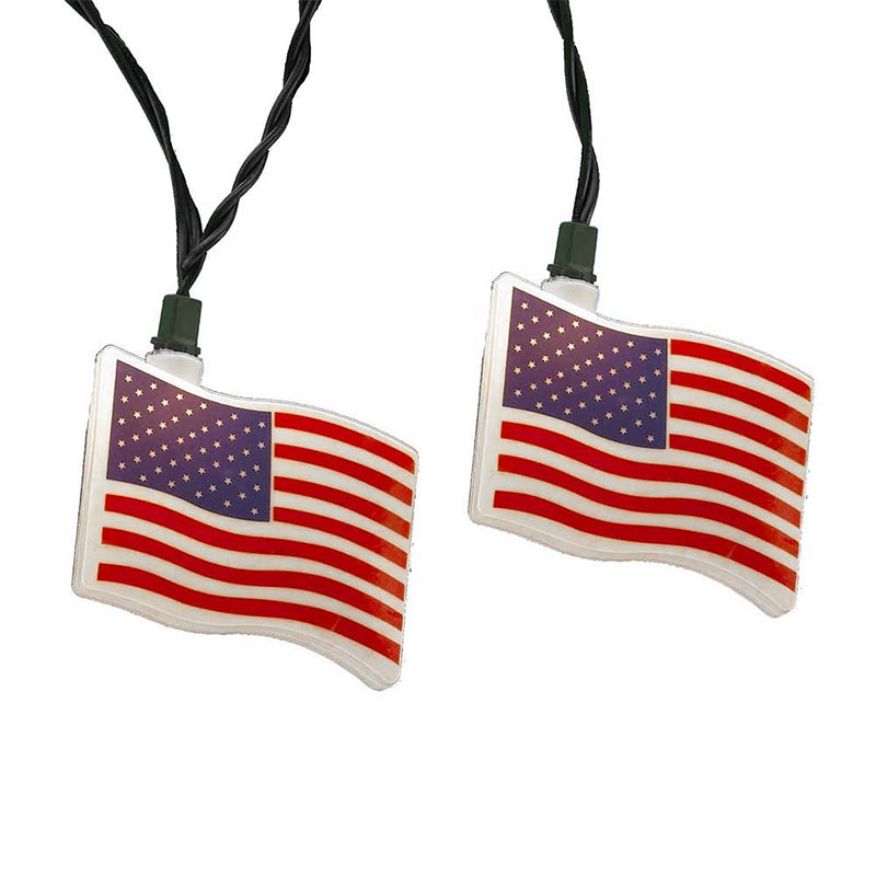 American Flag String Lights