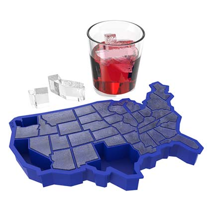 USA Blue Silicone Ice Cube Tray