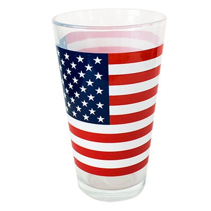 Patriotic American Flag Pint Glass