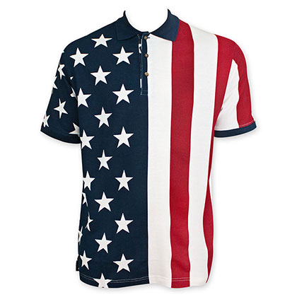 USA American Flag Polo Shirt