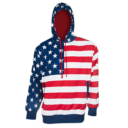 USA American Flag Hoodie