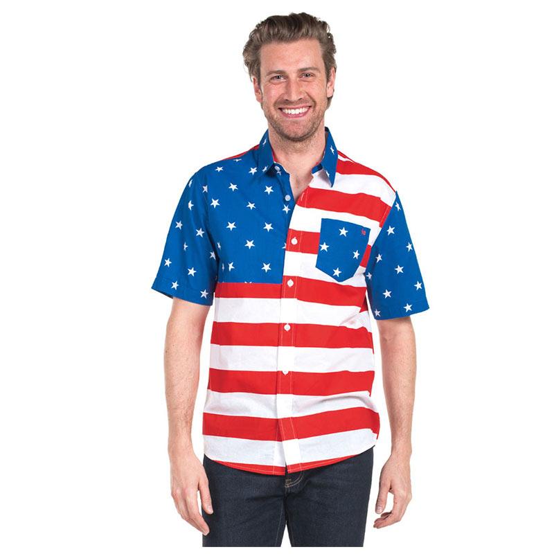 USA Patriotic Hawaiian Shirt