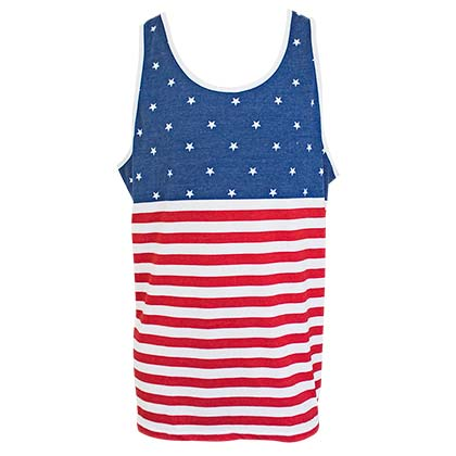 Patriotic American Flag Men's Tank Top