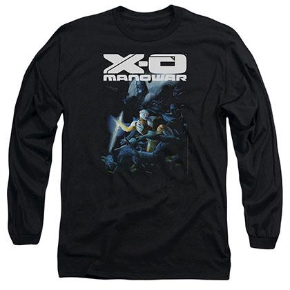 Xo Manowar By The Sword Black Long Sleeve T-Shirt