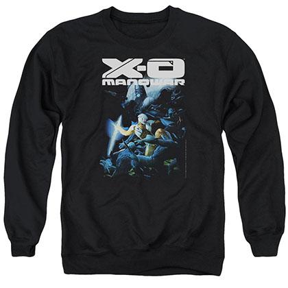 Xo Manowar By The Sword Black Crew Neck Sweatshirt