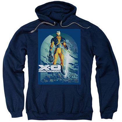Xo Manowar Planet Death Blue Pullover Hoodie