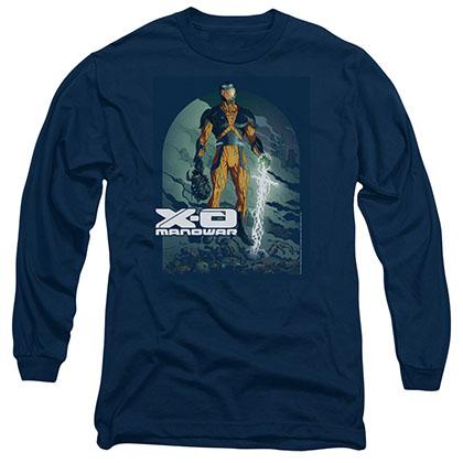 Xo Manowar Planet Death Blue Long Sleeve T-Shirt