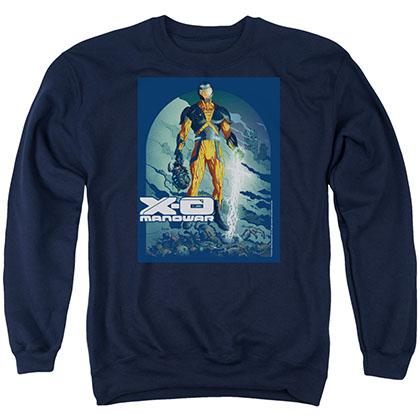 Xo Manowar Planet Death Blue Crew Neck Sweatshirt
