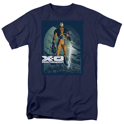 Xo Manowar Planet Death Blue T-Shirt