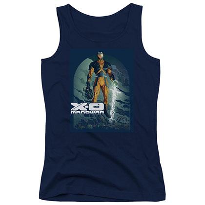 Xo Manowar Planet Death Blue Juniors Tank Top