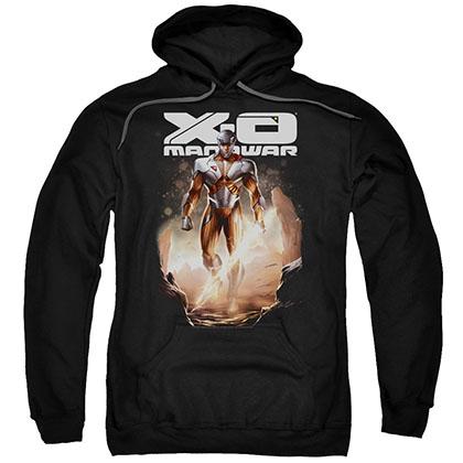 Xo Manowar Lightning Sword Black Pullover Hoodie