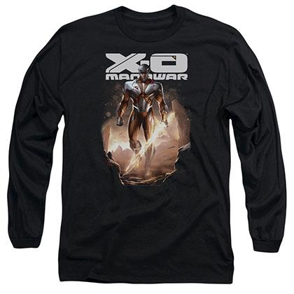 Xo Manowar Lightning Sword Black Long Sleeve T-Shirt