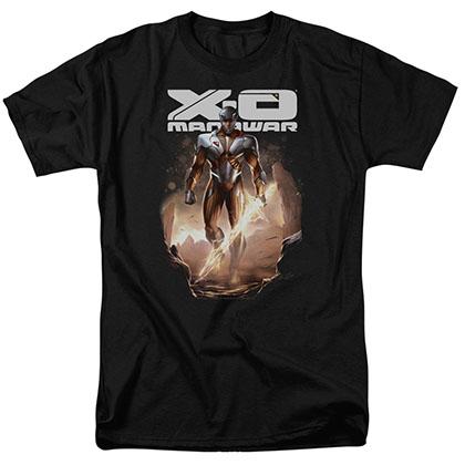 Xo Manowar Lightning Sword Black T-Shirt