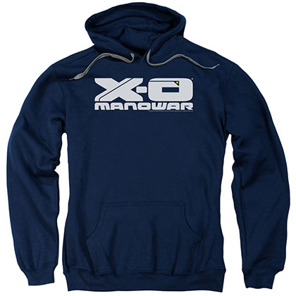 Xo Manowar Logo Blue Pullover Hoodie