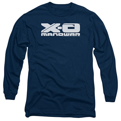 Xo Manowar Logo Blue Long Sleeve T-Shirt