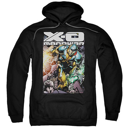 Xo Manowar Pit Black Pullover Hoodie