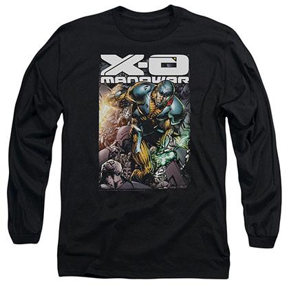 Xo Manowar Pit Black Long Sleeve T-Shirt