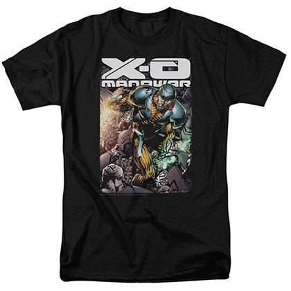 Xo Manowar Pit Black T-Shirt