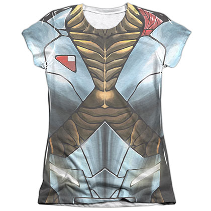 Xo Manowar Xo Armor White Juniors Sublimation T-Shirt