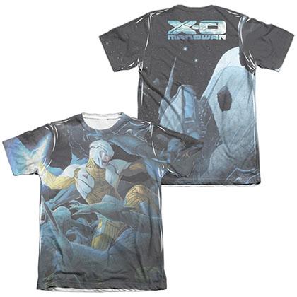 Xo Manowar Galactic Warrior  White 2-Sided Sublimation T-Shirt