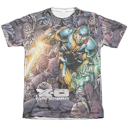 Xo Manowar Surrounded White Sublimation T-Shirt