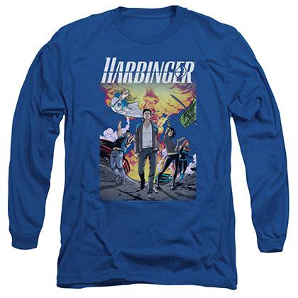 Harbinger Foot Forward Blue Long Sleeve T-Shirt