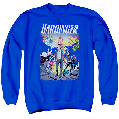 Harbinger Foot Forward Blue Crew Neck Sweatshirt