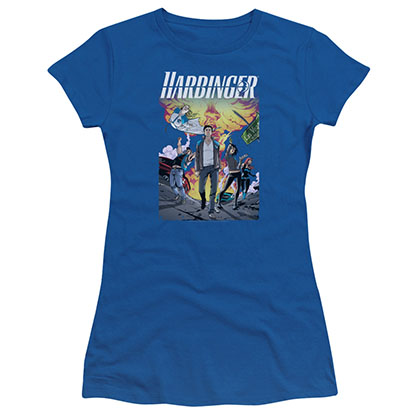Harbinger Foot Forward Blue Juniors T-Shirt